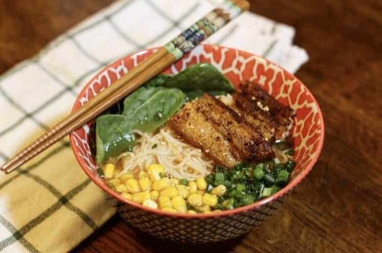 sous vide pork belly ramen