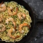 Fettuccine Alfredo with sous vide shrimp - Sous Vide Ways