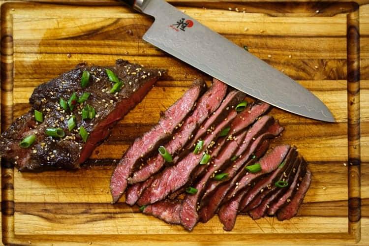 Asian Marinated sous vide Flank Steak