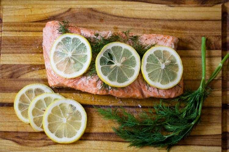 Sous Vide Salmon with Dill and Lemon